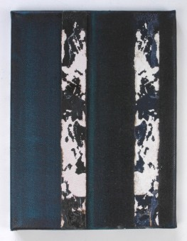 Reproductie plankje in blauw